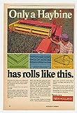 1972 New Holland Haybine Mower Conditioner Original Print Ad (22030)