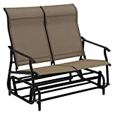 Lightweight Patio Glider Rocking Bench Double Chair Capacity 528 Lbs