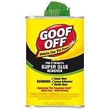 Goof Off FG677 Super Glue Remover, 4-Ounce