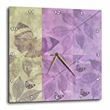 3dRose dpp_99238_3 Hope, Love, Dream Inspirational Butterflies and Leaves-Wall Clock, 15 by 15-Inch Review