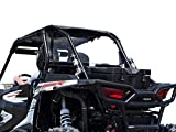SuperATV Heavy Duty Clear Polycarbonate Rear Windshield for Polaris RZR XP 1000 / XP 4 1000 (2014+) - Easy to Install!