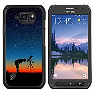 LECELL--Funda protectora / Cubierta / Piel For Samsung Galaxy S6Active Active G890A -- Estrellas En La Noche --