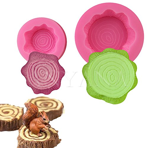 Anyana 2pcs set Tree Stump Fondant Cake Mold Decorating T...