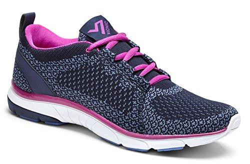 Vionic Womens Flex Sierra Lace Up Sneaker Navy Size 10 Wide by Vionic