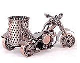 MYTANG Creative office desktop accessories,Harley The motorcycle loves metal pencil pen holder