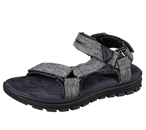 Skechers 65310 Mens Relaxed Fit: Mandro - Reeve Sandals, Black - 14