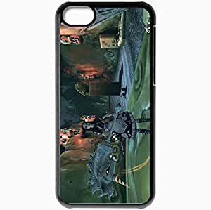 Personalized iPhone 5C Cell phone Case/Cover Skin Alice Mystic East Black