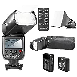 NeewerLI-ION BATTERY TT860MASTER E-TTL Camera Flash Speedlite Kit for Canon 5D Mark 2 3 6D 7D 70D 60D 50D Digital Rebel T3 SL1 T5i T4i T3i Xti XT / EOS 1100D 100D 700D 650D 600D 400D 350D and other Canon Ditial SLR Cameras, Includes: (1)TT860 E-TTL Flash