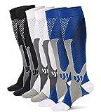 Moon Wood Youth Compression Socks for Soccer, Basketball, Baseball, Running, Travel Socks for Petite Women, S/M