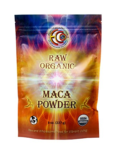 Earth Circle Organics Raw Organic Maca Powder, 8 Ounce