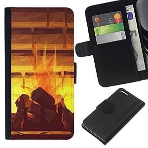 For Apple Iphone 5C Case , Watercolor Abstract Mystical Paining - la tarjeta de Crédito Slots PU Funda de cuero Monedero caso cubierta de piel