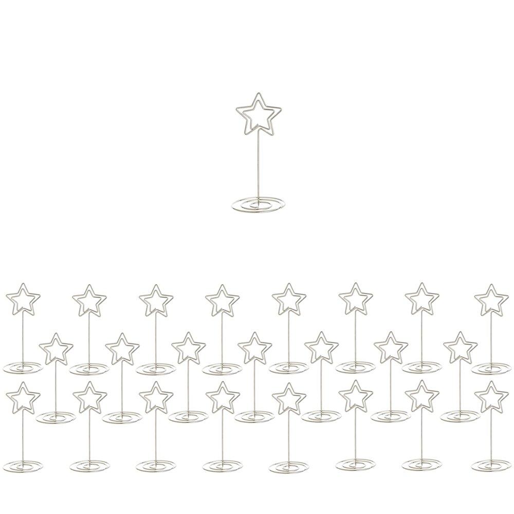 24 Stück Sternförmige Tischkartenhalter KH002 ideal für Namensschilder und Tischdeko Mis.