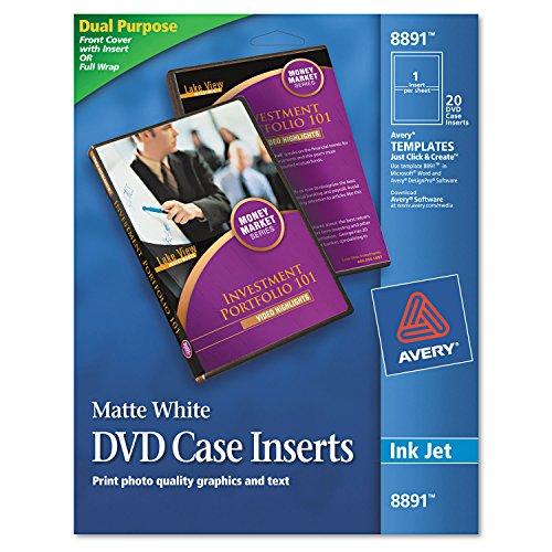 Inkjet Dvd Case Inserts - AVE8891 - Avery Inkjet DVD Case Inserts