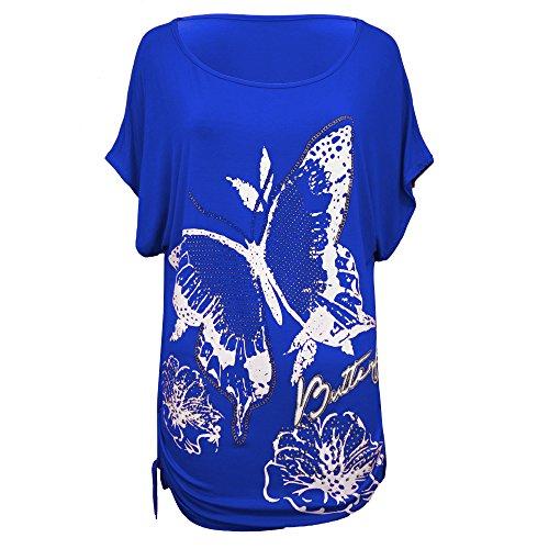 Vanilla Inc - Camisas - para mujer Royal butterfly Print