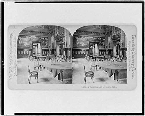 1900 Photo A gambling hall at Monte Carlo Chairs and gambling tables, in casino, Monte Carlo, Monaco. Location: Carlo, Monaco, Monte