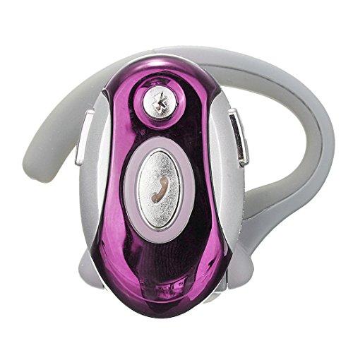 SODIAL(R) Business Handsfree Mono Earphone Wireless Bluetooth Headset for Motorola HTC, Rose Red