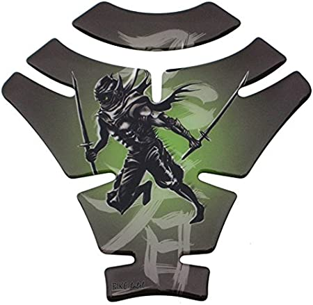 Tankpad 3d 500982 Ninja Green Grün Samurai Schwert Universell Für Yamaha Honda Ducati Suzuki Kawasaki Ktm Bmw Triumph Und Aprilia Tanks Auto