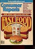 CONSUMER REPORTS JUNE 1988 /FAST FOOD /SUNSCREENS /LAWN MOWERS /CAR ROAD TESTS+