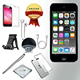 Apple iPod Touch 6th generation Music player, 32GB -GRAY- w/ iTouch Accessory Kit includes; Bluetooth Speaker + Clear Case & Screen Protector + ipod 5-Angle Adjustable Stand + iPod Stylus Pen + Cloth