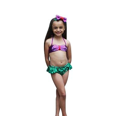 3Pcs Costume da bagno per Ragazze Bikini infantile bambini ...