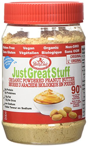 Betty Lou's Just Great Powdered Peanut Butter, 6.35-Ounce Jar (Organic Peanut Butter And Jelly)