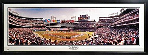 Texas Rangers Inaugural Game @ The Ballpark In Arlington Panoramic Framed
