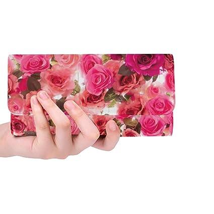 Único Personalizado Rosas Coloridas Aisladas En Blanco Bolso ...