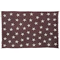 VHC Brands Farmhouse Americana Flooring - Antique Red Star Red angle Rug, 18 x 26