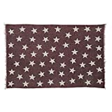 VHC Brands Farmhouse Americana Flooring - Antique Red Star Red Angle Rug, 1'8'' x 2'6''