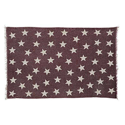 VHC Brands Farmhouse Americana Flooring - Antique Red Star Red Angle Rug, 1'8'' x 2'6'' by VHC Brands