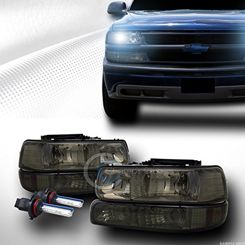 AutobotUSA 8K HID XENON SMOKE HEAD LIGHT SIGNAL AM 1999+ CHEVY/GMC SILVERADO TAHOE SUBURBAN