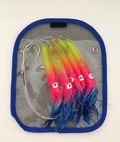 Shell Squid Daisy Chain – Rainbow – 1pc – W/single Lure Bag – Item # 229