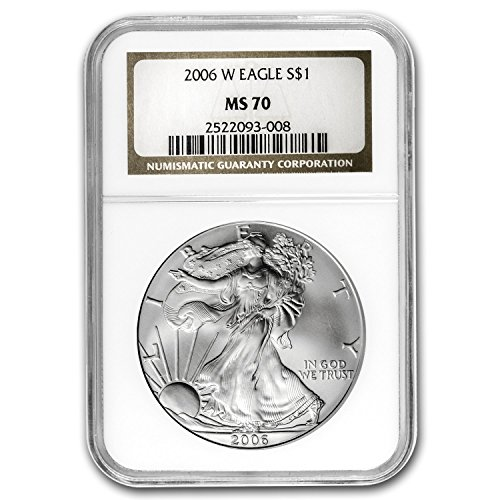 2006 W Burnished Silver American Eagle MS-70 NGC Silver MS-70 NGC