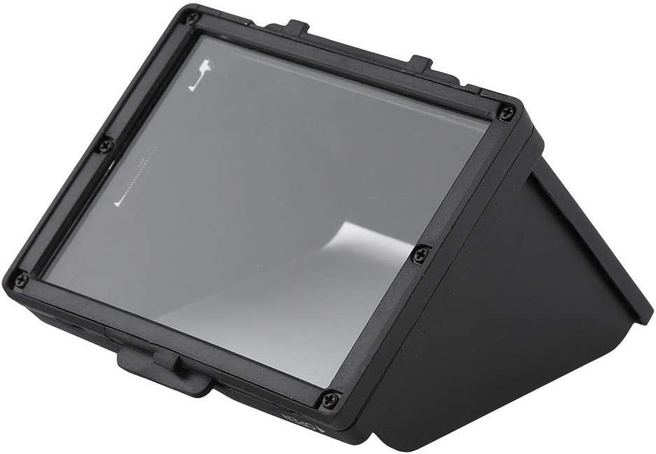 Pomya Camera Sun Shade Embedded Tempered Glass Screen Protector Camera LCD Monitor Screen Folding Hood Sunshade Protective Cover for Nikon D7500