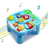 Wishtime Baby 2in1 Marine Animal Play and Music Learning Table for 18+ Months Toddlers