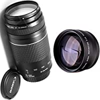 Canon 75-300mm III Zoom Lens + High Definition Telephoto Auxiliary Lens