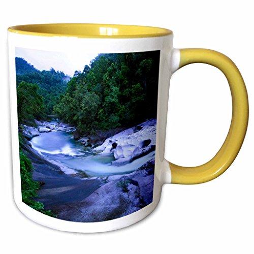 3dRose Danita Delimont - Queensland - The Babinda Boulders river, near Cairns, Queensland, Australia - 11oz Two-Tone Yellow Mug (mug_248161_8) (Queensland Boulder)