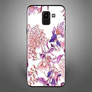 Samsung Galaxy J6 Pink purple flower pattern