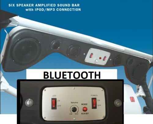 New Model Bluetooth Jeep Wrangler Cj Tj Yj Soundbar Will work with Ipad / Mini/ Ipod/Iphone/Samsung Galaxy/S2 /S3 /S4 Note / II / III HTC 1 Smart Phones or Mp3 players and built in amplifier with LED Lights and 6 speakers.