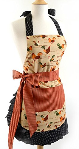 Flirty Aprons Women's Original Rooster Apron Rooster Apron