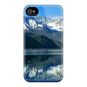 High Quality AnnetteL Mountains Reflection Skin Case Cover Specially Designed For Iphone - 4/4s