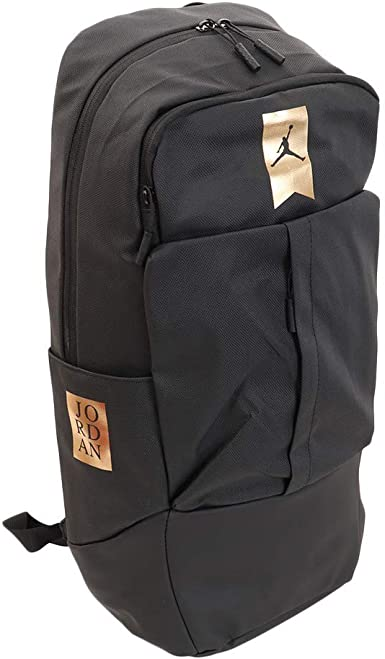 Conciliador Illinois grano  Amazon.com | Nike Air Jordan Big Kids Black/Gold Backpack | Kids' Backpacks