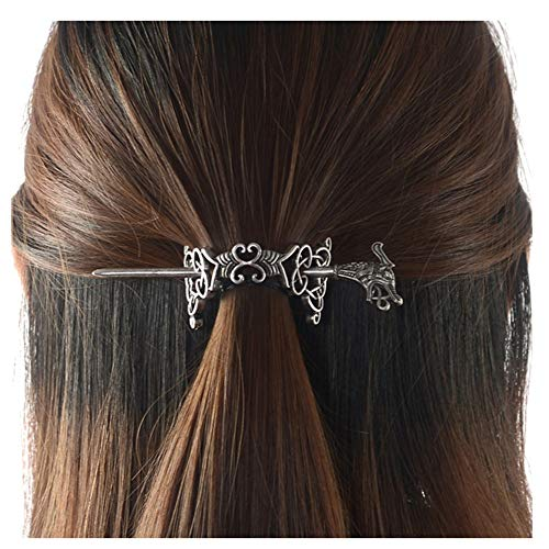 Fashion Vintage Hair Clip Viking Hairpin Celtic Heart-Shaped Hair Stick For Women (Strip-shaped)
