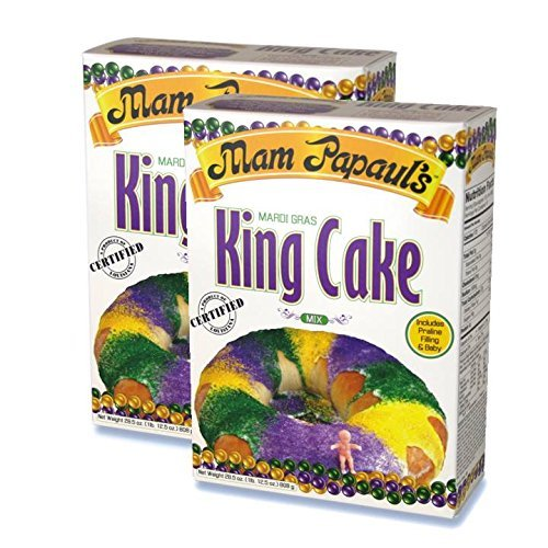 (Mam Papaul's Mardi Gras King Cake Mix Kit 28.5 oz - 2 Pack)