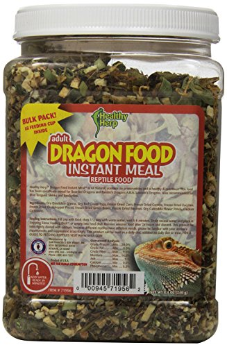 San Francisco Bay Brand SSF71956 Bulk Healthy Herp Bearded Dragon Mix Adult Instant Meal, 8-Ounce by San Francisco Bay Brand