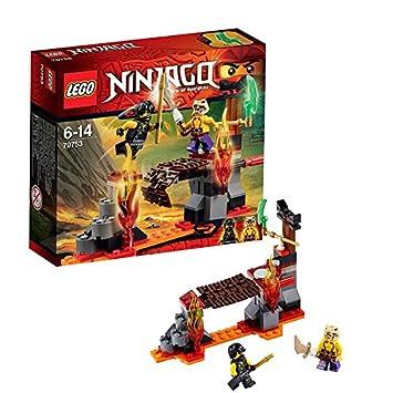 lego ninjago playthmes 70753 jeu de construction les chutes de lave