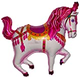 SPACE PET 35'' CIRCUS CAROUSEL HORSE BALLOON (PINK) - Amazing New HOVERING ANTI-GRAVITY TOY - Free Floating, Flying Pony Carnival Farm Animal Kingdom Cowboy Birthday Party Favor