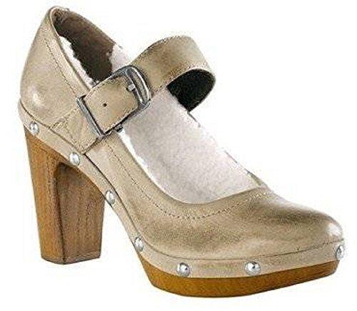 CHILLANY Pumps - Zapatos de vestir de cuero para mujer marrón - pardo