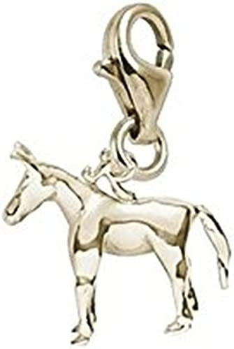 10k Yellow Gold Horse Charm With Lobster Claw Clasp Charms for Bracelets and Necklaces
