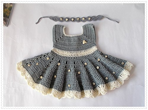 Buy hand crochet baby dresses - 4